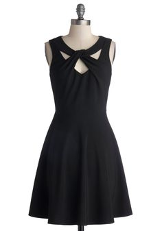 Figure Skate Fab Dress. With a delicate swoosh, you launch into the air and spin, this beautiful, black A-line's flared skirt twirling out around you. #black #modcloth