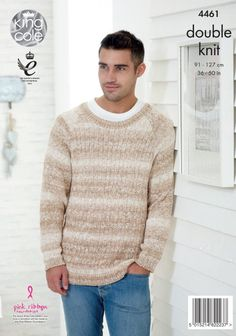 54a9e7f7a2b5c7 Men s Sweaters Knitted with Vogue DK - King Cole