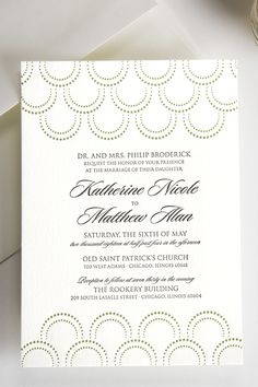 Beautiful, affordable letterpress invitations from ForYourParty.com.