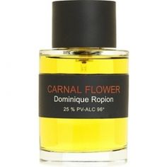 Carnal Flower by Frederic Malle is a Floral fragrance based on the scent of tuberose absolute - and it contains more than any other perfume.  Dominique Ropion worked on the formula for more than 2 years. The top notes contain: bergamot, melon and eucalyptus. The middle notes include: ylang-ylang, jasmine, tuberose, natural salicylates. The base encompasses: tuberose absolute, orange blossom absolute, coconut and musk.