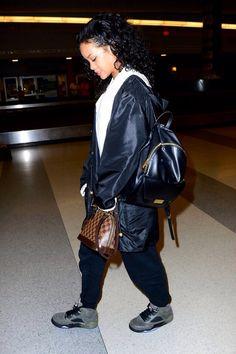 fashionkillxaz:  Fa$hion Killa: Rihanna in Jordan Fear Pack 5s