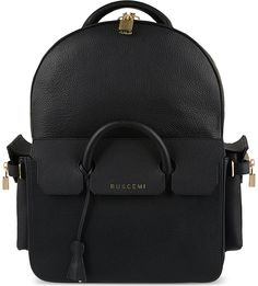 BUSCEMI - Handle leather backpack