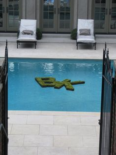 what a great idea!!!  floating monogram and moss