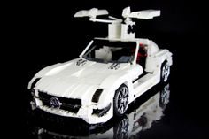 #LEGO Technic Mercedes-Benz SLS AMG GT3 with working doors.