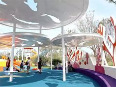 Cool Playgrounds, House Sketch Design, Kids Toilet, Kindergarten Design, Future Buildings, Playground Design, Urban Park, Shade Structure, Parking Design
