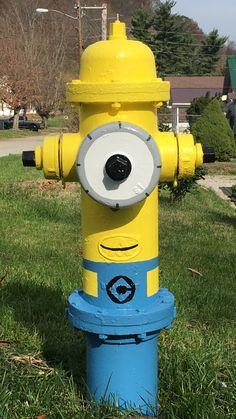 Minion fire hydrant fire department firefighter wall - Minion pompier ...