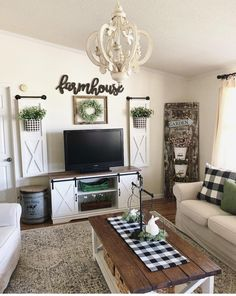 best farmhouse living room tv stand design ideas 61 – My Sweet Home New Living Room, Living Room Interior, Home And Living, Small Living Room Ideas With Tv, Rustic Living Room Decor, Rustic Family Rooms, Living Room Decor Around Tv, Modern Living, Tv On Wall Ideas Living Room