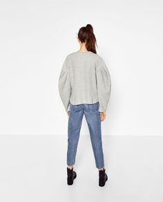 SWEATER WITH PUFF SLEEVES-View all-KNITWEAR-WOMAN | ZARA United Kingdom