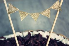 Birthday cake topper diy glitter ♥♥♥