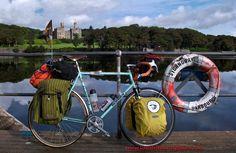 Kelvin's Holdsworth Mistral touring bike. Touring Scotland.