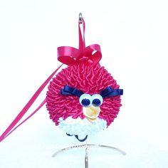Angry Birds - niezwykle modny motyw można wykorzystać nawet tworząc bombki.