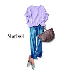 華やかデニムコーデからカジュアルモノトーンコーデまで【アラフォー春の1週間コーデ】 Marisol ONLINE 女っぷり上々!40代をもっとキレイに。