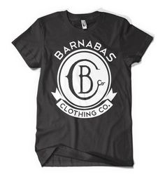 Barnabas Clothing Co.   Crest Stamp Logo - Black. Barnabas gives a portion of each sale to those with terminal illnesses in Kenya. #wearGOOD