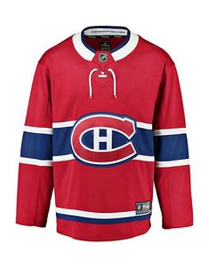 Fanatics Men's Montreal Canadiens NHL Breakaway Home Jersey - Red - Size Large Lace Weave, Shield Logo, Nhl Jerseys, Montreal Canadiens, Hockey, Fan Gear, Active Wear, My Style, Sweatshirts