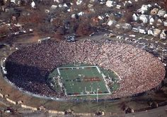Packed Yale Bowl for 100th Yale-Harvard football game (1983)