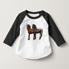 Wild Horses Western toddler boys t-shirt