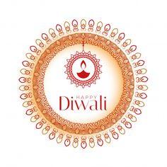 Decorative happy diwali celebration background with mandala pattern Free Vector Happy Diwali Wallpapers, Happy Diwali Images, Shubh Diwali, Diwali Diya, Diwali Vector, Diwali Fireworks, Sparkles Background, Background Images, Diwali Festival Of Lights
