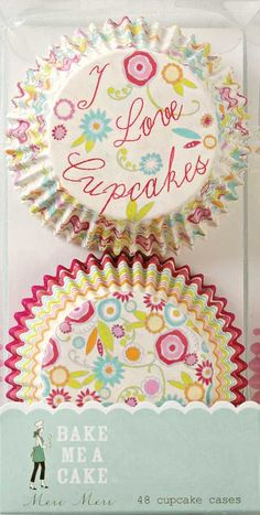 Meri Meri I Love Cupcakes Baking Cups | 48ct for $3.83 in Cupcake Liners - Cake/Cupcakes