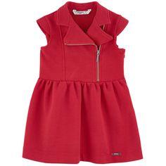 Ribbed cotton jersey Super stretch Dress: Light   Without lining Biker style Short sleeves Slant zipper on the front Logo slider Logo plate - 44,00 €