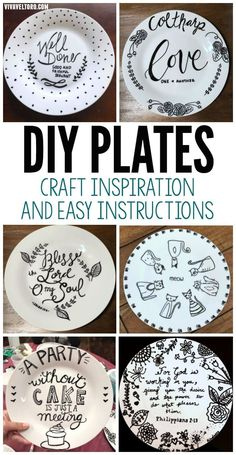 This awesome dollar store craft will be a crowd pleaser. DIY Sharpie plates make… This awesome dollar store craft will be a crowd pleaser. DIY Sharpie plates make great personalized gifts and are so easy cheap to make! Sharpie Plates, Sharpie Crafts, Diy Sharpie Mug, Sharpie Projects, Clay Projects, Diy Gifts For Kids, Easy Gifts, Diy Crafts For Gifts, Crafts To Make