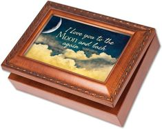 Cottage Garden I Love You 3D Woodgrain Music Box / Jewelry Box Plays Wonderful World ** You can find out more details at the link of the image.