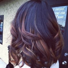 Pretty dark ombre bob