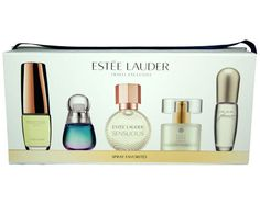 Estee Lauder Spray Favorites Perfume Gift Set For Women: This gift set includes 5 of your favorite Estee Lauder Fragrances: Beautiful Love EDP 4.7ml, Beyond Paradise EDP 4ml, Sensuous EDP 4ml, Pure White Linen EDP 4ml, Pleasures EDP 4ml. $56.45