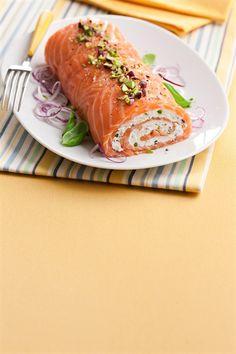 Tronchetto di salmone ai pistacchi