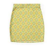 yellow geometric festival pattern Minirock