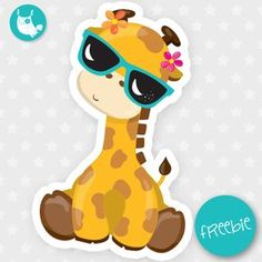 Summer giraffe Freebie, free clipart, freebie, commercial use, educational, free images, free