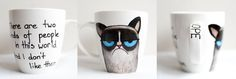 Grumpy Cat; hand-painted mug; 370ml / Kristi Palm Art