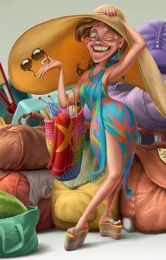 Breathtaking Character Design by Oscar Ramos