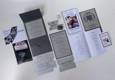Wedding Invitation & Package - Hollywood Movie Theme by Brittany Langdale, via Behance