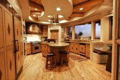 [ Interior Design Log Cabin Designs Modern Cabins Small Ideas And Decor Busyboo Page ] - Best Free Home Design Idea & Inspiration Small Cabin Kitchens, Small Cottage Kitchen, Cottage Kitchens, Country Kitchen, Layout Design, Küchen Design, Design Ideas, Rustic Kitchen Lighting, Rustic Kitchen Design