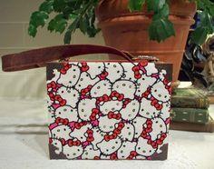 SOLD Hello Kitty Repurposed Cigar Box Purse Romeo Y by TheAlteredBox