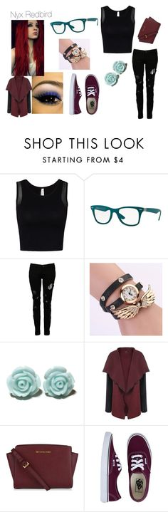 """""""Nyx Redbird #1"""" by black-337 on Polyvore featuring Ray-Ban, Religion Clothing, WearAll and Vans"""
