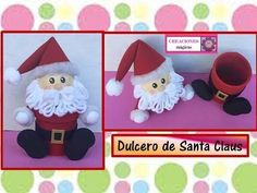 Candy of Santa Claus - Mikulás édességtartó Folded Paper Flowers, Fabric Flowers, Handmade Christmas, Christmas Crafts, Christmas Ornaments, Santa Gifts, Xmas Gifts, Kids Stockings, Plastic Bottle Crafts