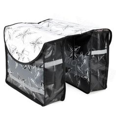 Roswheel Outdoor Rainproof Bicycle Bike Luggage Carrying Bag - Black + White (28L)
