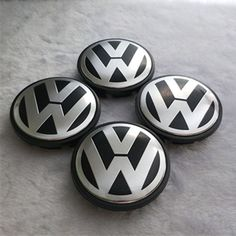 VW Wheel Caps 65 mm 4x-Noir /& Chrome-tourag Cc Modèles
