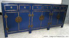 Aparador chino azul anticuario - Muebles chinos   muebles orientales   muebles asiaticos   decoración oriental China
