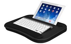LapGear Deluxe Media LapDesk for laptops and tablets 91338 Black Carbon