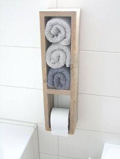 Toilettenpapierhalter Klopapierständer Handtuchhalter #shabbychicbathroomsdiy