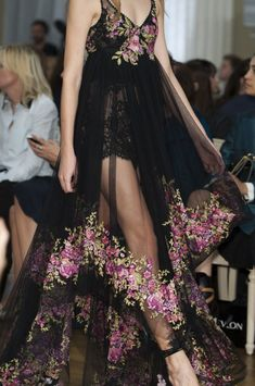 Marchesa Spring 2015--could use some lining below the waist, other than that I'm in love with the design and material