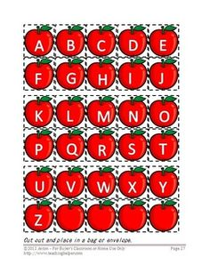 Here are 6 printable file folder games with an alphabet theme! These make great independent work tasks for children with autism or other special needs. They would also be appropriate for a kindergarten or preschool classroom.