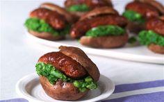 Sausages with watercress potatoes