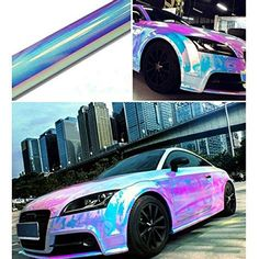 HOHO Holographic Rainbow Neo Chrome Car Vinyl Wrap Bubble Free Sticker Film (138CMX30CM) - Buy ...