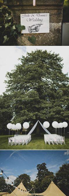 Balloons outdoor ceremony