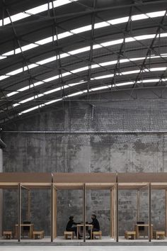 A warehouse in Coimbra once used for storing industrial materials converted into an indoor football ground.