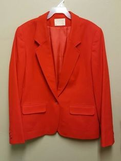 89.95$  Buy now - http://viacd.justgood.pw/vig/item.php?t=6sj02sz54402 - Pendleton Size 10 Red One Button Blazer Lined Suit Jacket Vintage 100% Wool 89.95$