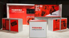 Toshiba Trade Show Booth. I like the use of color and photography